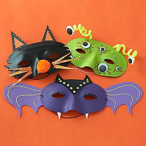 Fun masks...place on your pumpkin for quick and easy pumpkins; or have a masquerade party for halloween