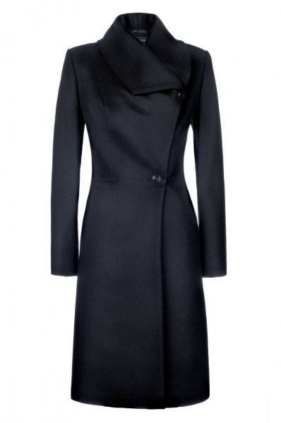 Asymmetrically-cut princess coat - edgy take on the classic lady coat, think Trinity meets the Duchess of Cambridge...