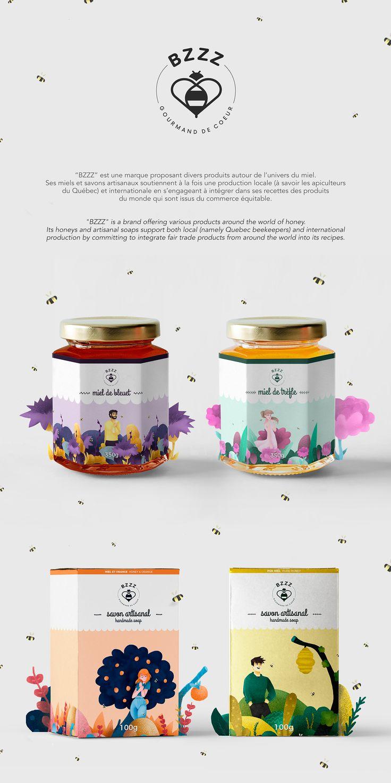 """""""BZZZ"""" est une marque proposant divers produits autour de l'univers du miel. Ses miels et savons artisanaux soutiennent à la fois une production locale (à savoir les apiculteurs du Québec) et internationale en s'engageant à intégrer dans ses recettes des …"""