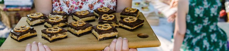 Haigh's Chocolates –Chocolate Peanut Butter Pretzel Slice