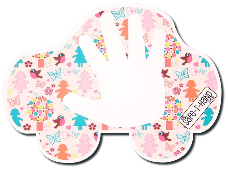 A 'Little Lady' Safe-T-Hand is available as both car Magnet and car Decal at $29.97 each. #road #safety #teaching #tool #butterflies #magnet #decal #fun #flowers #hearts #birds #pink #educate #learn #parents #educators www.safethand.com.au