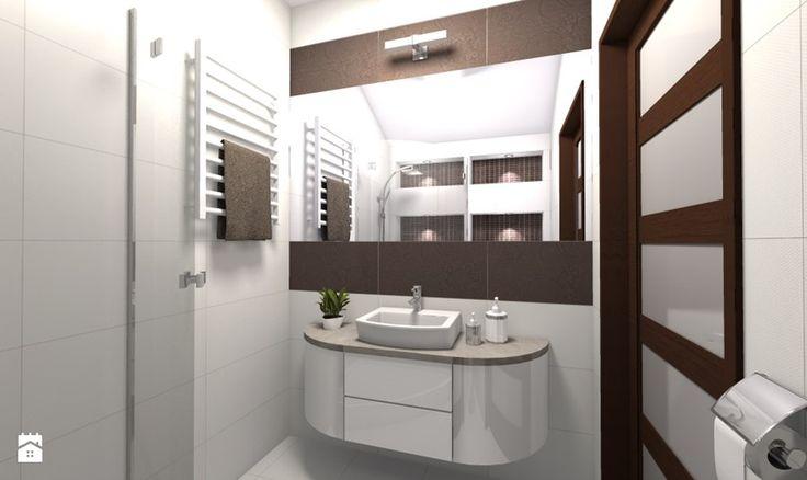 Projekt domu w miejscowości Świercze (wybrane wnętrza) - Łazienka, styl nowoczesny - zdjęcie od Medyńscy Projektowanie