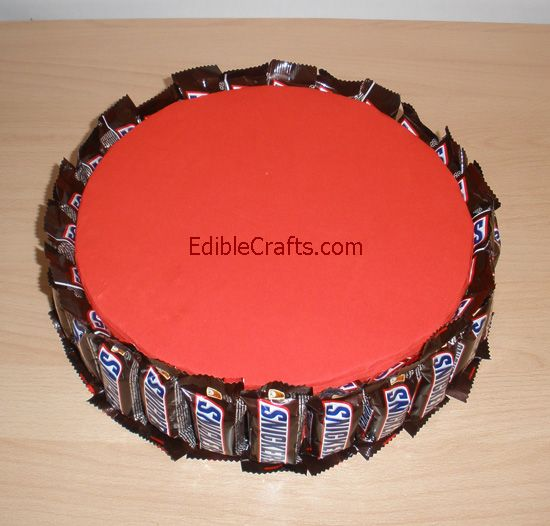 First tier of snickers cake is ready