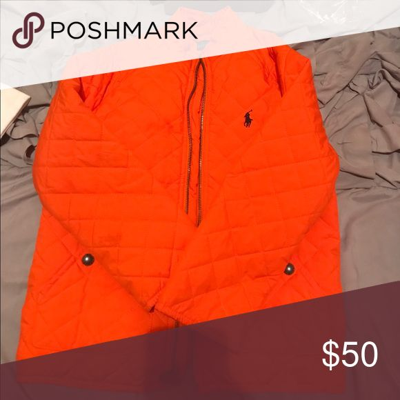 Boys Orange Polo jacket Orange Polo jacket with navy blue horse Polo by Ralph Lauren Jackets & Coats