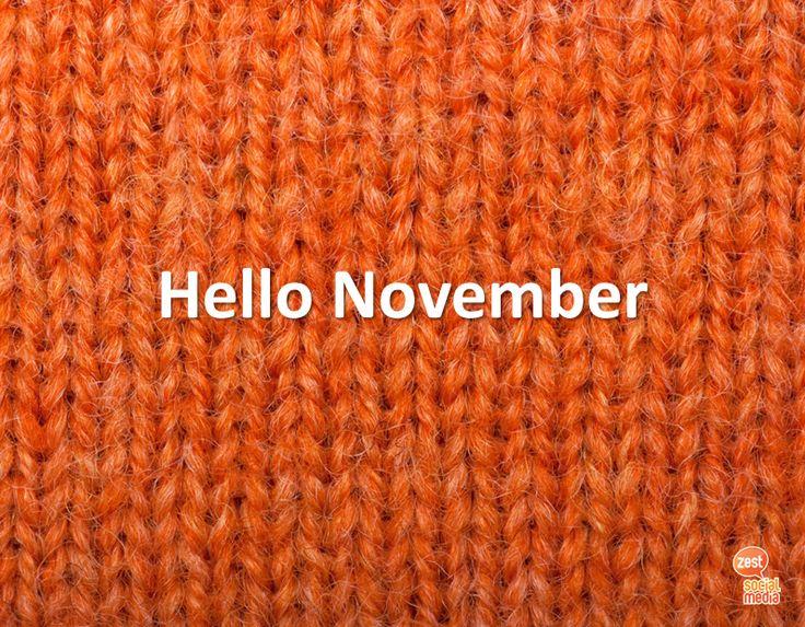 #hello #november #knitting #orange