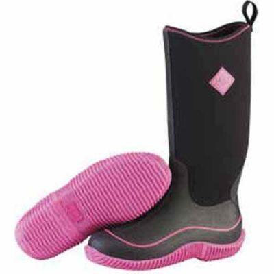 The Original Muck Boot Company Hale Ladies' 13 in. Black/Pink Waterproof Rubber/Neoprene Boot - Tractor Supply Co.