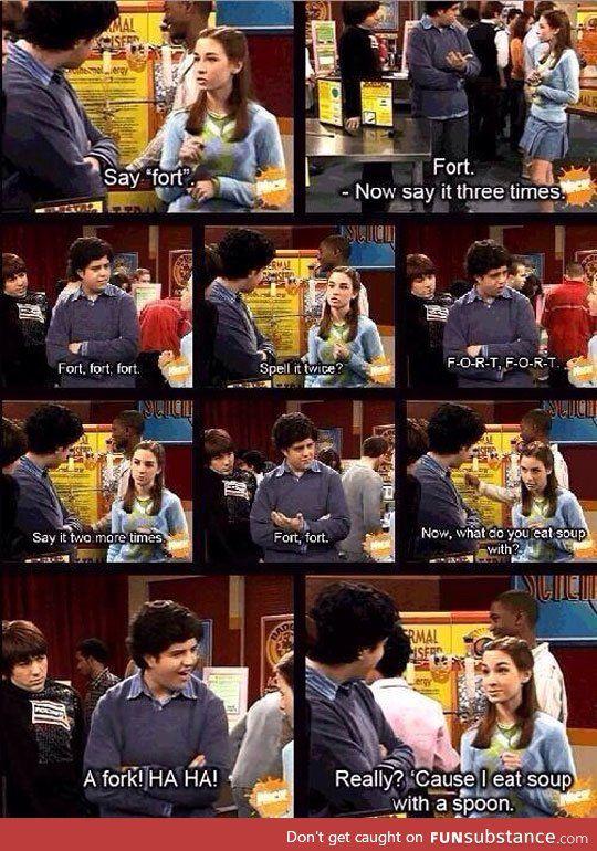 The fort prank... Drake and Josh