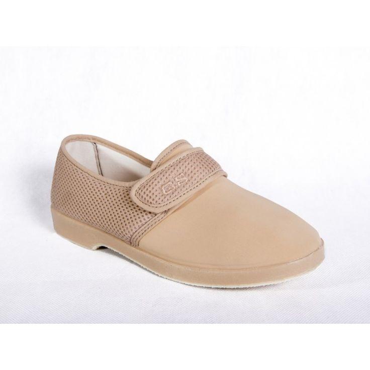 ZAPATO CABALLERO CAMEL CON REJILLA - confortableshoes.com