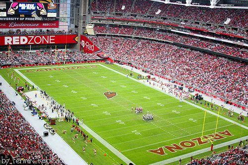 University of Phoenix Stadium.  Phoenix Arizona.  Home of the Arizona Cardinals (NFL)