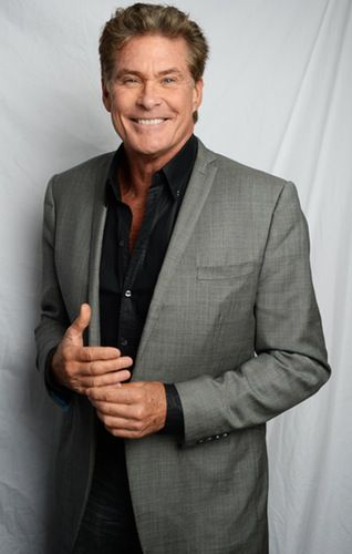 David Hasselhoff still looks just like this in real life... No touch ups, blue eyes, and very tall!