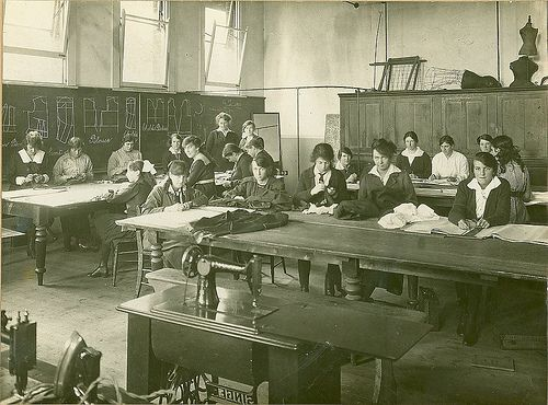 1920s Dressmaking class. Geelong, Australia