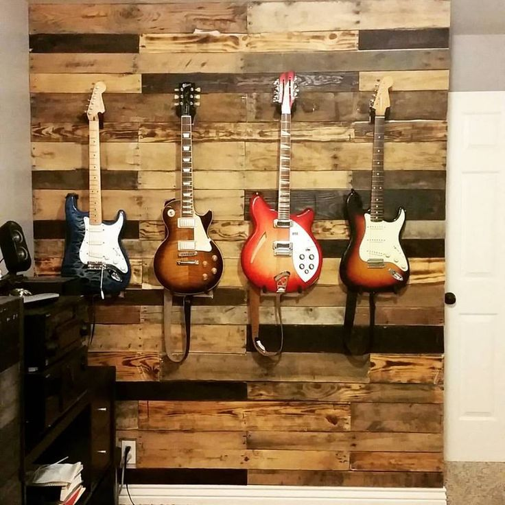 pallet wall guitar pallet wall guitar wall office decore on guitar wall hangers id=42627
