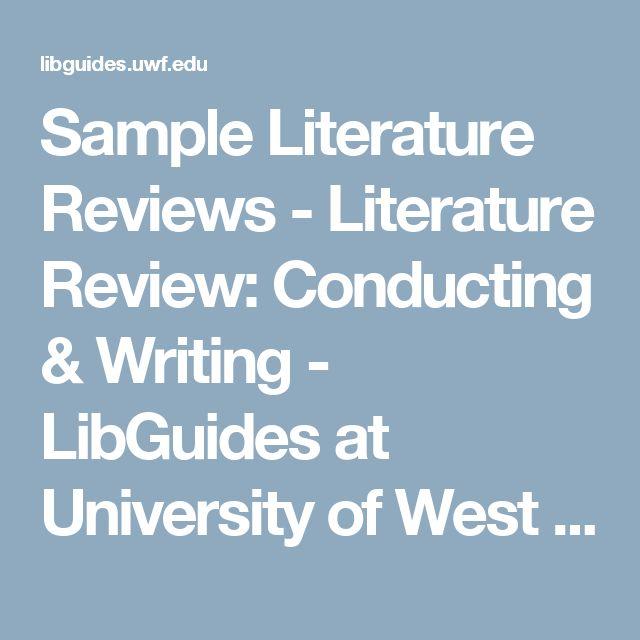 Más de 25 ideas increíbles sobre Literature review sample en - literature review