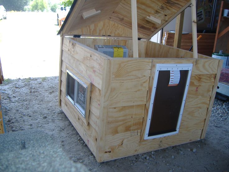 Custom Insulated Dog House With Ac Open Top 2 Window And