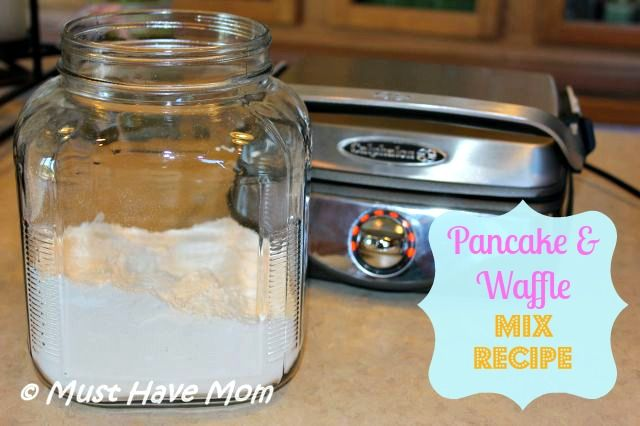 Pancake and Waffle Mix Recipe ~ Dry Make Ahead Mix! Recipe Type: Breakfast Author: Sarah @ Must Have Mom Prep time: 5 mins Total time: 5 mins Serves: