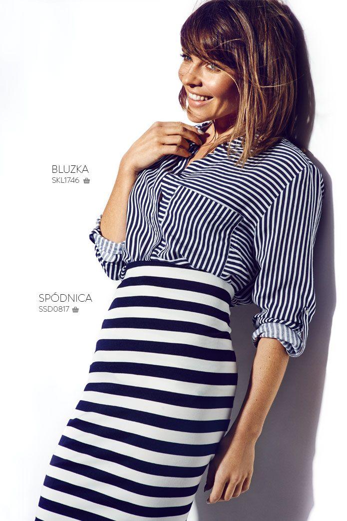 Ołówkowa #spódnica w paski #topsecret #stripes