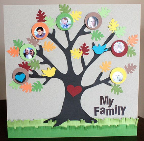 family tree projects - make a design of your family tree on construction paper, or a standard poster board -your family may be real or fictional if you do your own family, you can choose one parents' side or both, as long as you have at least 10 members.
