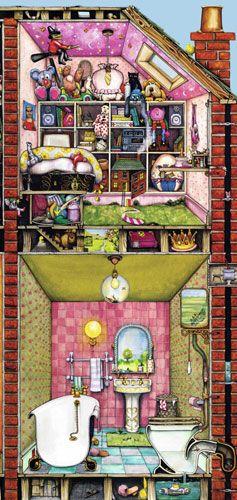 Ravensburger Puzzle - Collin Thompson's Higgledy Piggledy House. Top right-hand corner.