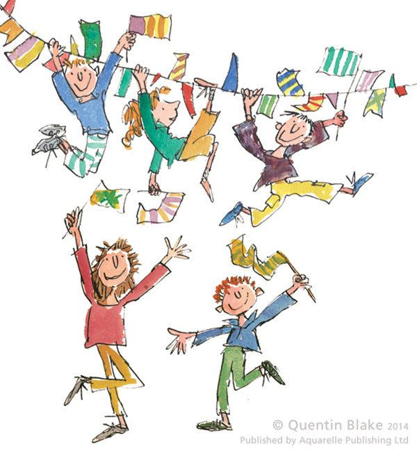 Celebrations Signed Art Print By Quentin Blake - Arthouse Gallery