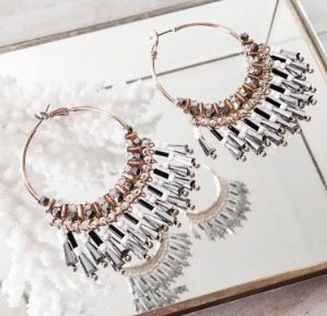 The stunning Hoop Earrings in Smoke - Available now at tealandtala.com.au
