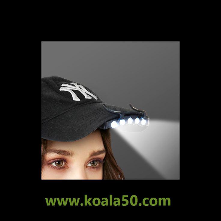 Linterna LED para Gorra - 1,58 €   ¡Sorprende a todos con la práctica y novedosalinterna LED para gorra! Muy útil y fácil de acoplar. Sólo tienes que fijar los enganches en la visera de cualquier gorra y ¡ya eres todo un...  http://www.koala50.com/ropa-complementos-wearable-technology/linterna-led-para-gorra