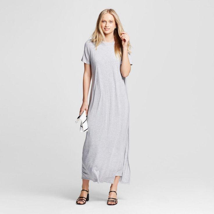 Women's T-Shirt Maxi Dress - Who What Wear - Gray Xxl