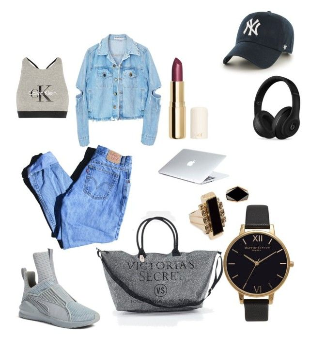 """""""OOTD"""" by madisonkiss on Polyvore featuring '47 Brand, Puma, Calvin Klein Underwear, Olivia Burton, Levi's, Victoria's Secret, H&M, Lanvin, Beats by Dr. Dre and Dyson"""