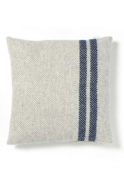 NEW Soft Wool Cushion - Blue French Stripe - Textiles