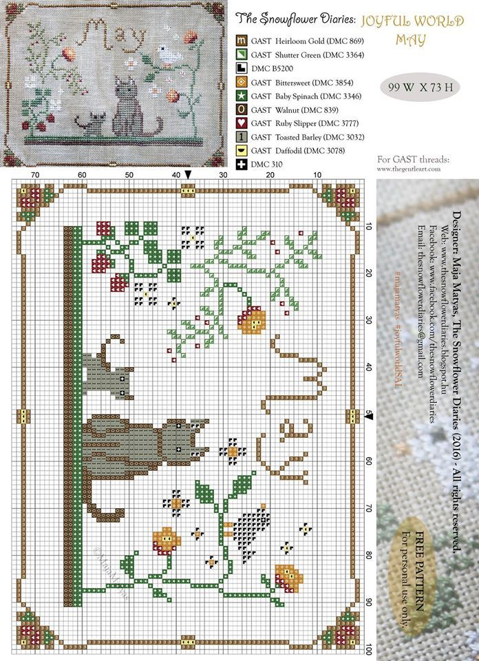 May The snowflower diaries free pattern
