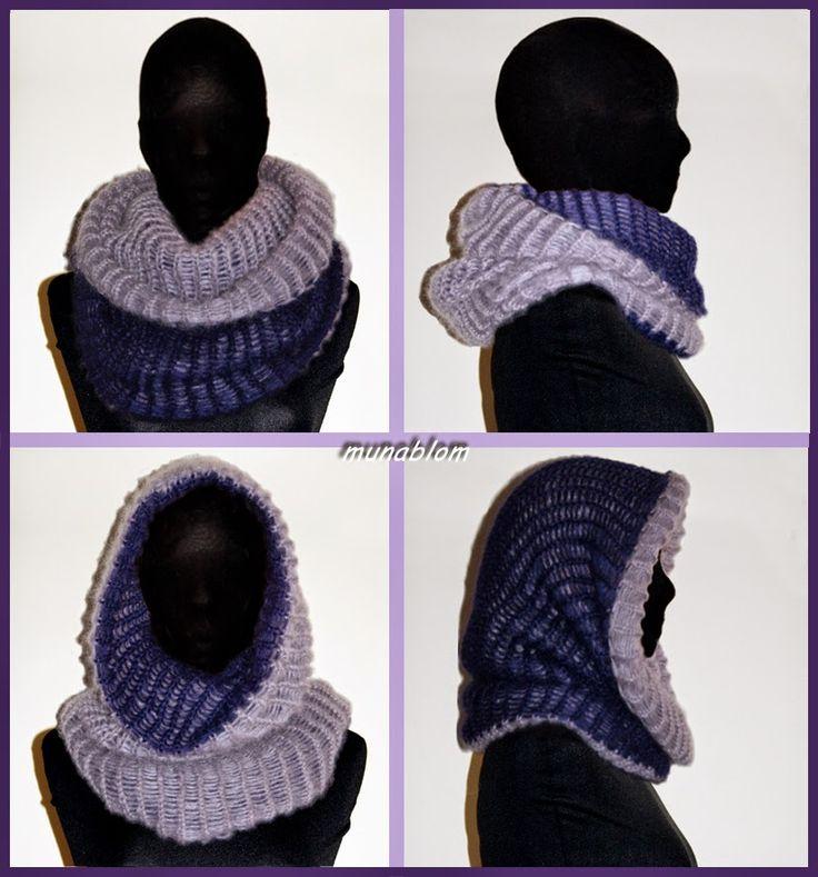 Prassede 01: Cachecol in mohaire double-face tessuto con telaio manuale.