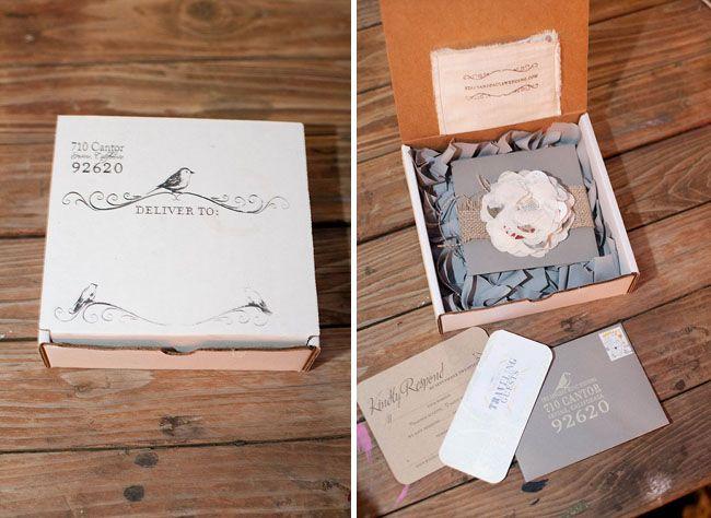 wedding invite - box!
