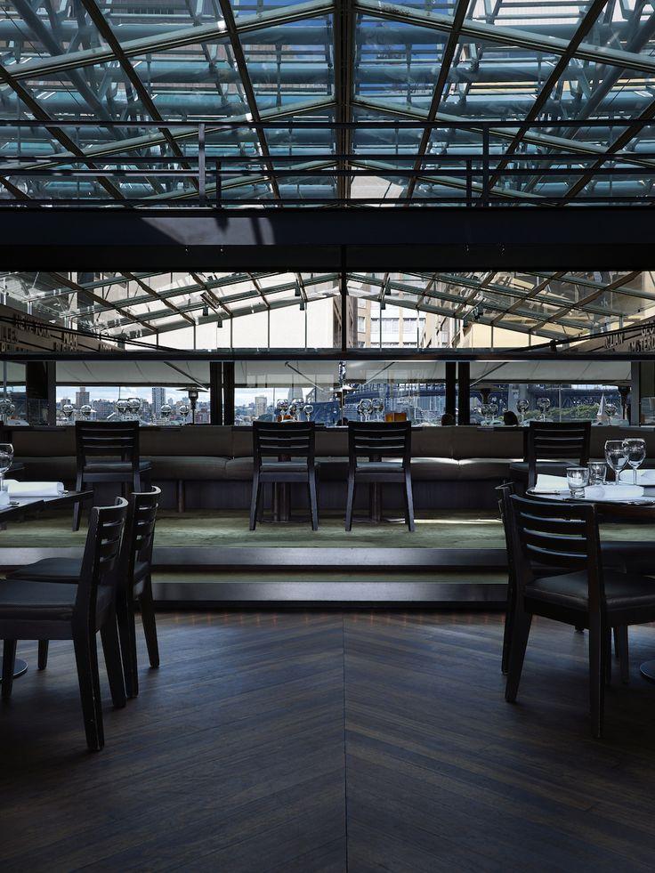 Cafe Sydney Anton's Blackbutt timber with dark chocolate
