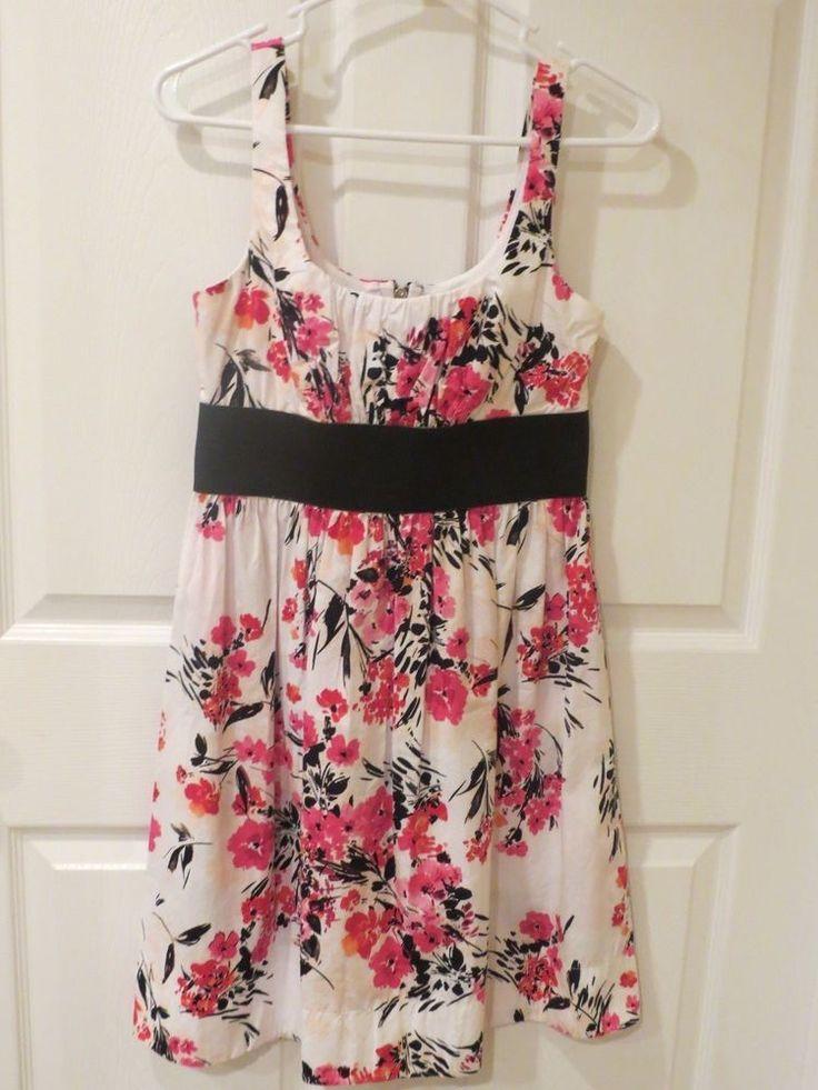 SALE GOING ON NOW!!  B Smart Dress White/Pink/Orange/Blk Above knee Size 6 #BSmart #EmpireWaist #Casual