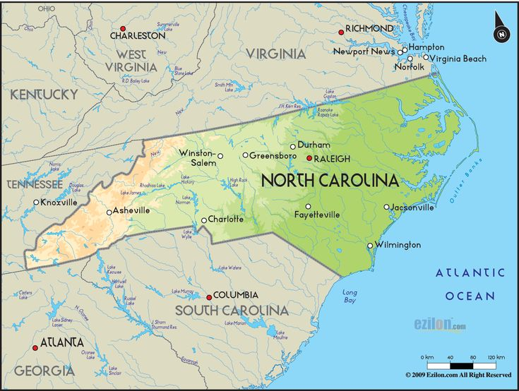Nice North Carolina Map Holidaymapq Pinterest North Carolina - North carolina on usa map