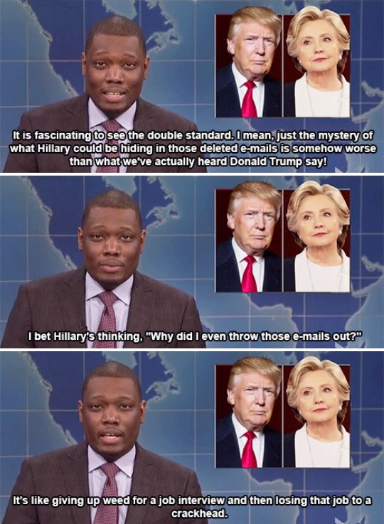 """When Michael Che said what we've all been thinking about those damn emails.   26 Times """"SNL"""" Made This Election Slightly More Bearable"""
