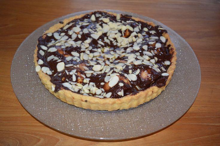 Warm Dark Chocolate and Pear Tart