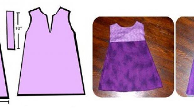 Ecco il cartamodello per abito da bimba da cucire con il fai da te