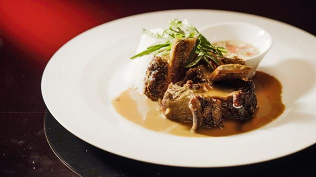 Beef Short Ribs with Coconut Sauce and Prik Nam Pla