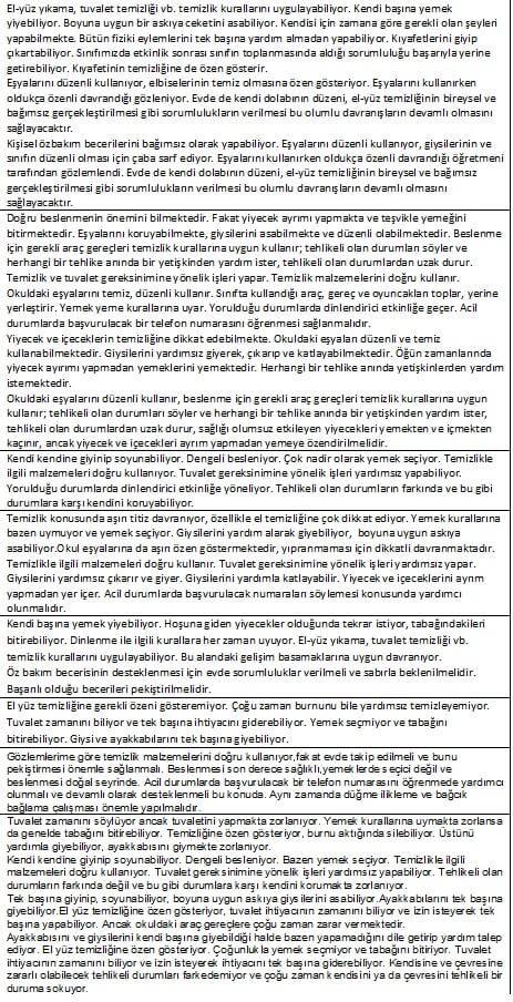 Okul Öncesi Gelişim Raporları Örneği 2016 | trendsokak.com