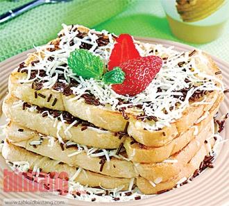 Roti Bakar cokelat  Keju, Indonesia