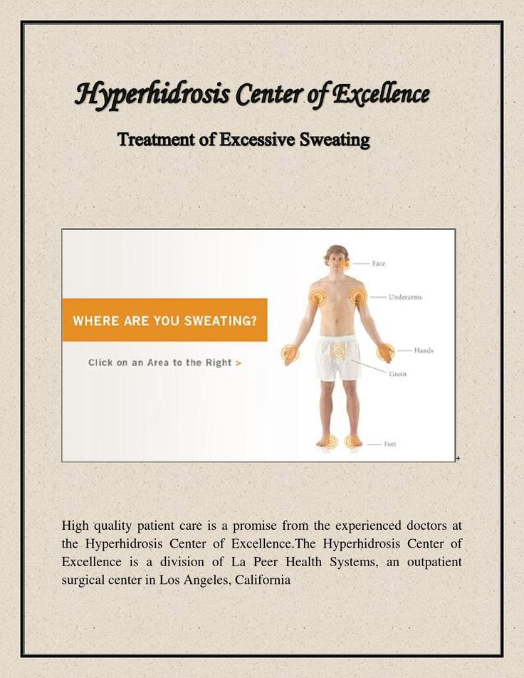 The person diagnosed with Hyperhidrosis has excessive sweating and abnormal body temperature. If a patient has large amount of perspiration as compared to normal conditions then doctors recommend the Surgery for the same. Thoracoscopic sympathectomy is special surgery done to treat Hyperhidrosis.