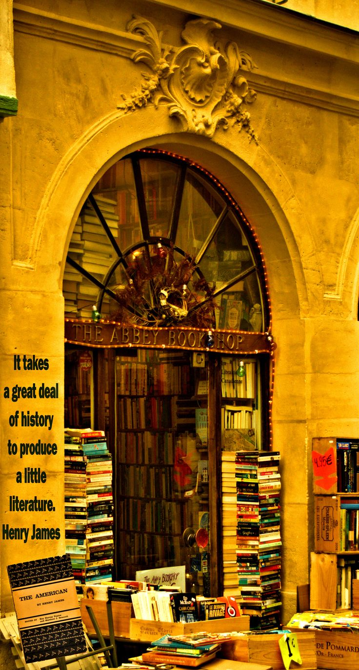 Abbey Bookshop, Paris This Would Represent An Awful Lot Of History Just A