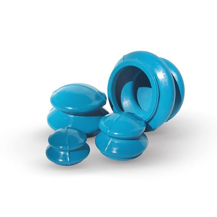 Acucups Rubber 4-piece Cupping Therapy Set