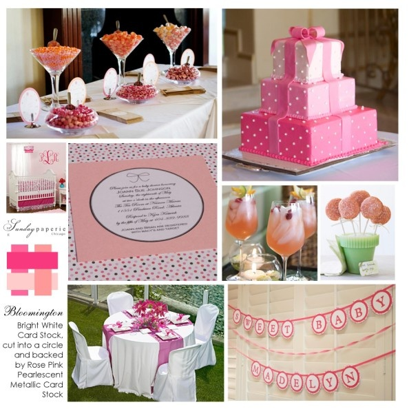 Cute pink baby shower!