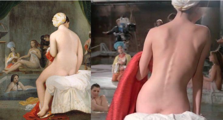 Filmscenes die gebaseerd zijn op bekende kunstwerken
