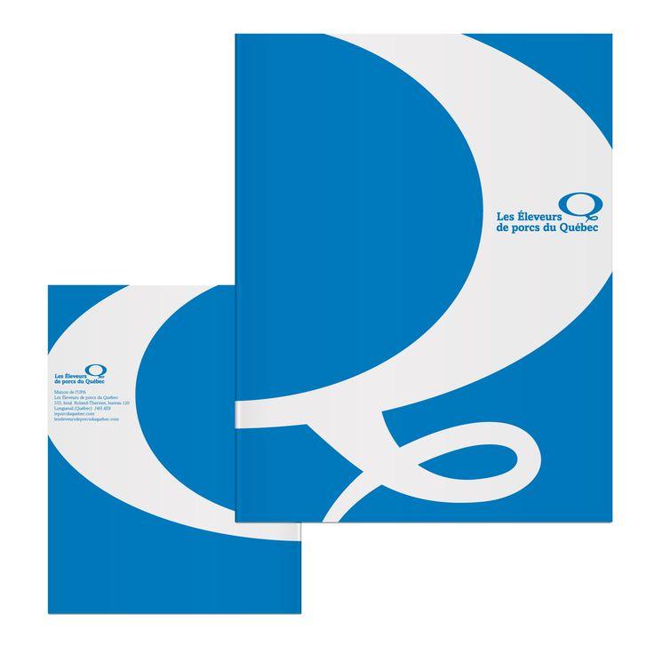 Porte-document pour Les Éleveurs de porcs du Québec, par Cyan Concept. https://www.facebook.com/cyanconcept.graphisme