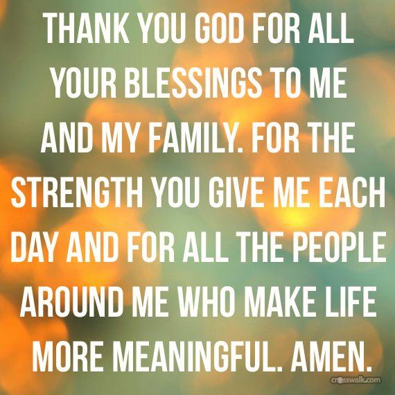 Thankful Family Blessings Inspirations Pinterest Prayers