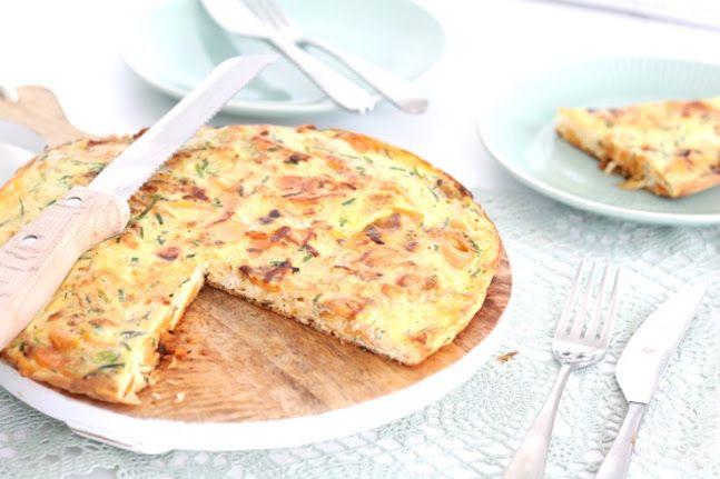 Zoete aardappel tortilla met zuurkool - Chicks love food / Uit Pauline's keuken