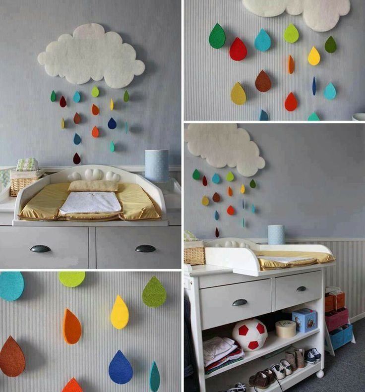 Once Zaylee gets her own bed, this will be above it. Rainbow Rain Cloud. I love it.