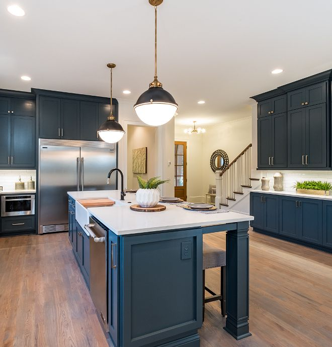 Why White Kitchen Interior Is Still Great For 2019: Hale Navy Benjamin Moore Hale Navy Benjamin Moore Custom